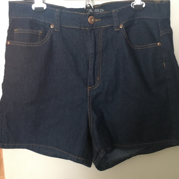 F21+ denim shorts
